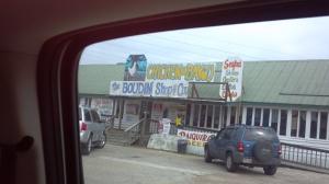 Boudin shop outside Lafayette